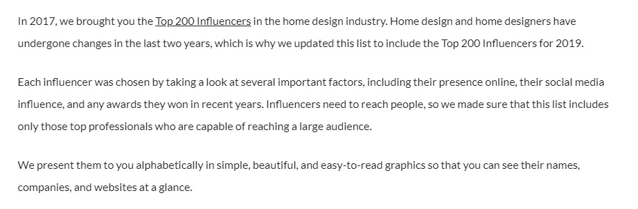 Top 200 Influencers in the Home Design Industry 2019 -cr-1a