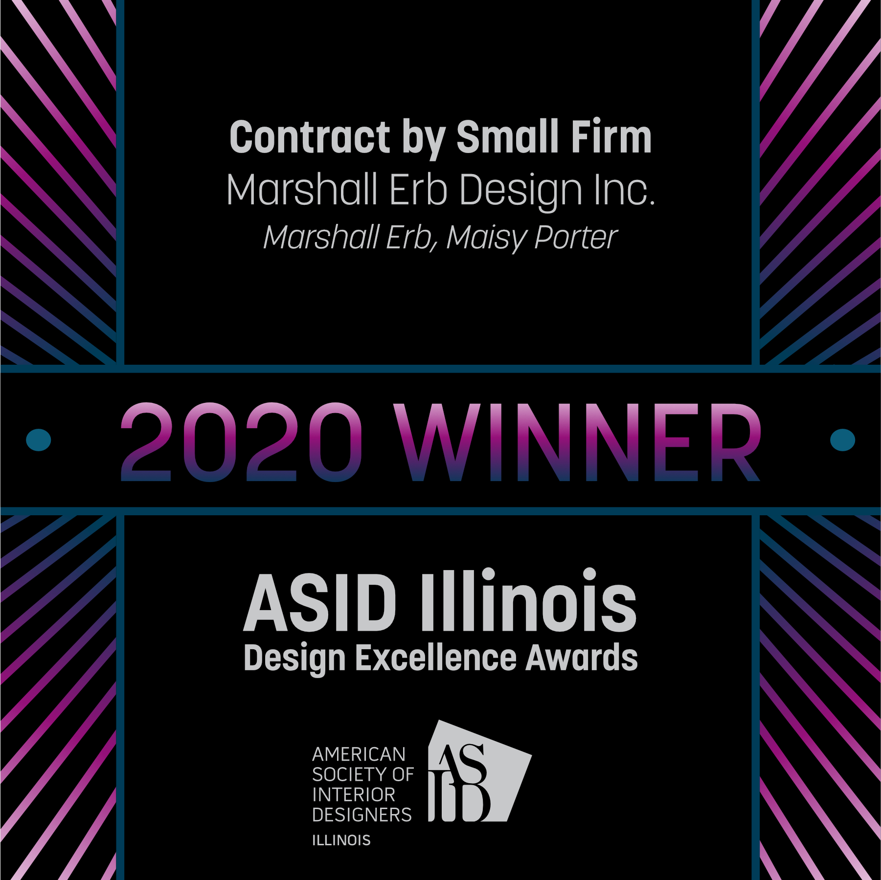 Marshall Erb Design Excellence Awards 2020 Winner